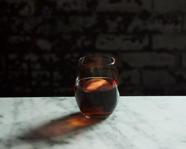 The Golden Age comprises Flor de Caña Gold rum, Cynar,  Fino Sherry, Licor 43 liqueur and Peychaud's bitters.