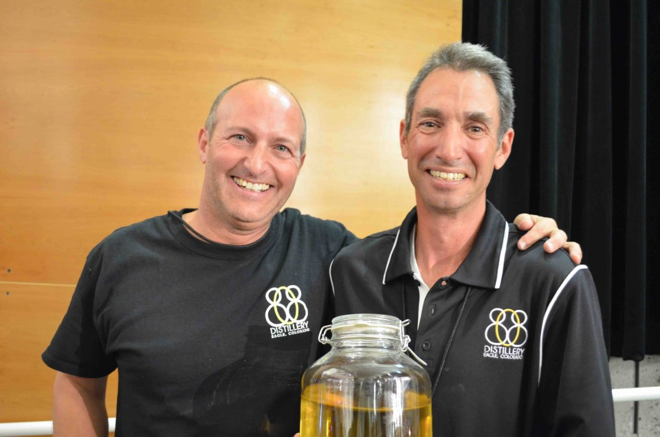 Jeff Leonardo (left) and Claude Seeman make artisanal limoncello at 808 Distillery in nearby Eagle, Colorado, and will soon produce aged and spiced rums.