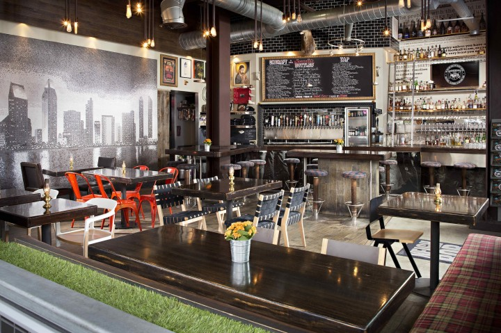 Neighborhood, a bar in San Diego's East Village, launched as CH Projects' first concept in 2006. The venue pioneered craft beer in the city and offers dozens of labels on tap and in bottles.