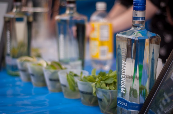 Leading domestic vodka brands like Skyy, Smirnoff and New Amsterdam (pictured) have seen success with marketing campaigns and flavors that target millennial consumers.