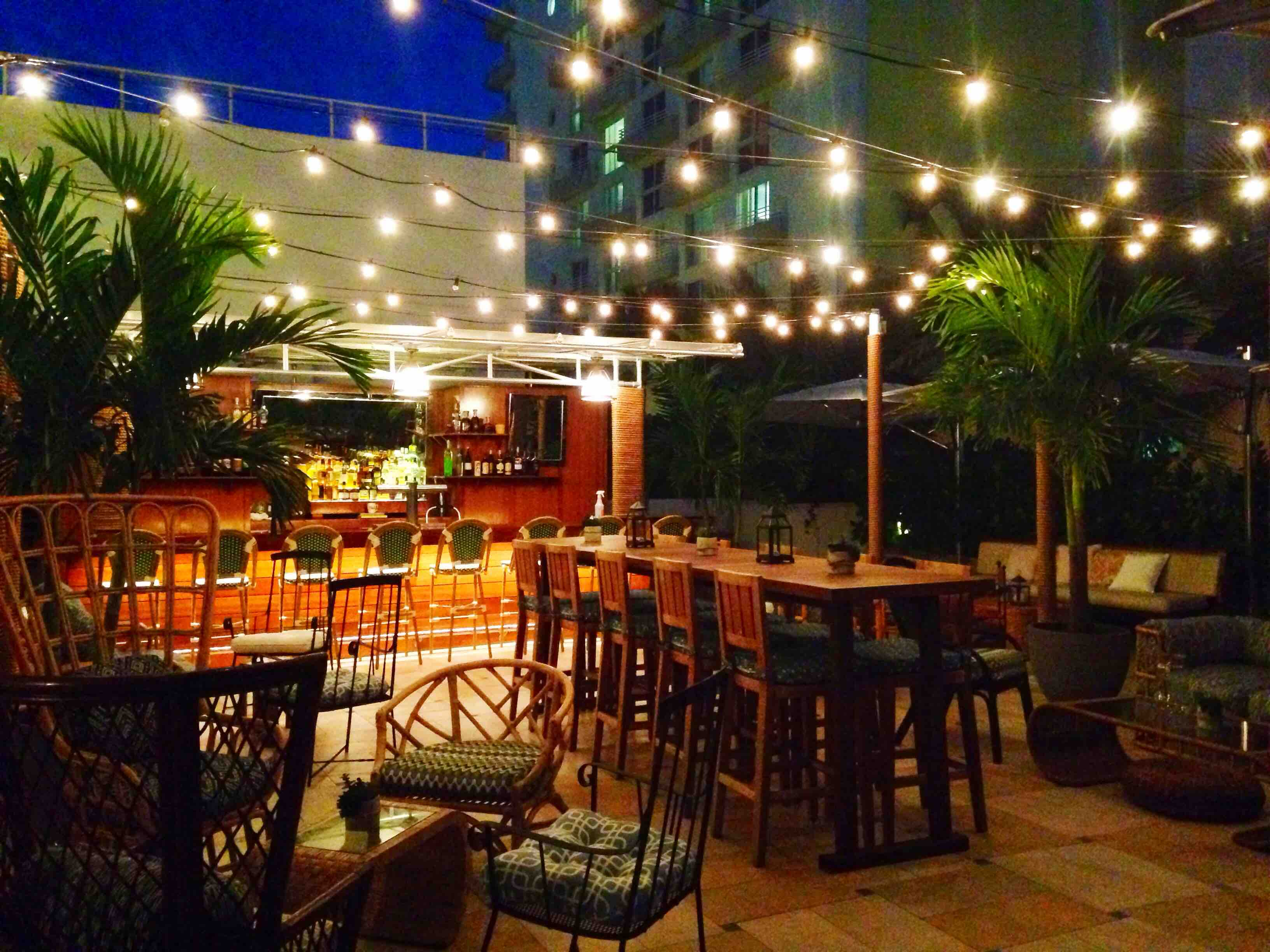 The Rum Line in Miami features its namesake spirit in a variety of cocktails, including punches that serve three to four people. Al fresco seating adds to the casual atmosphere.