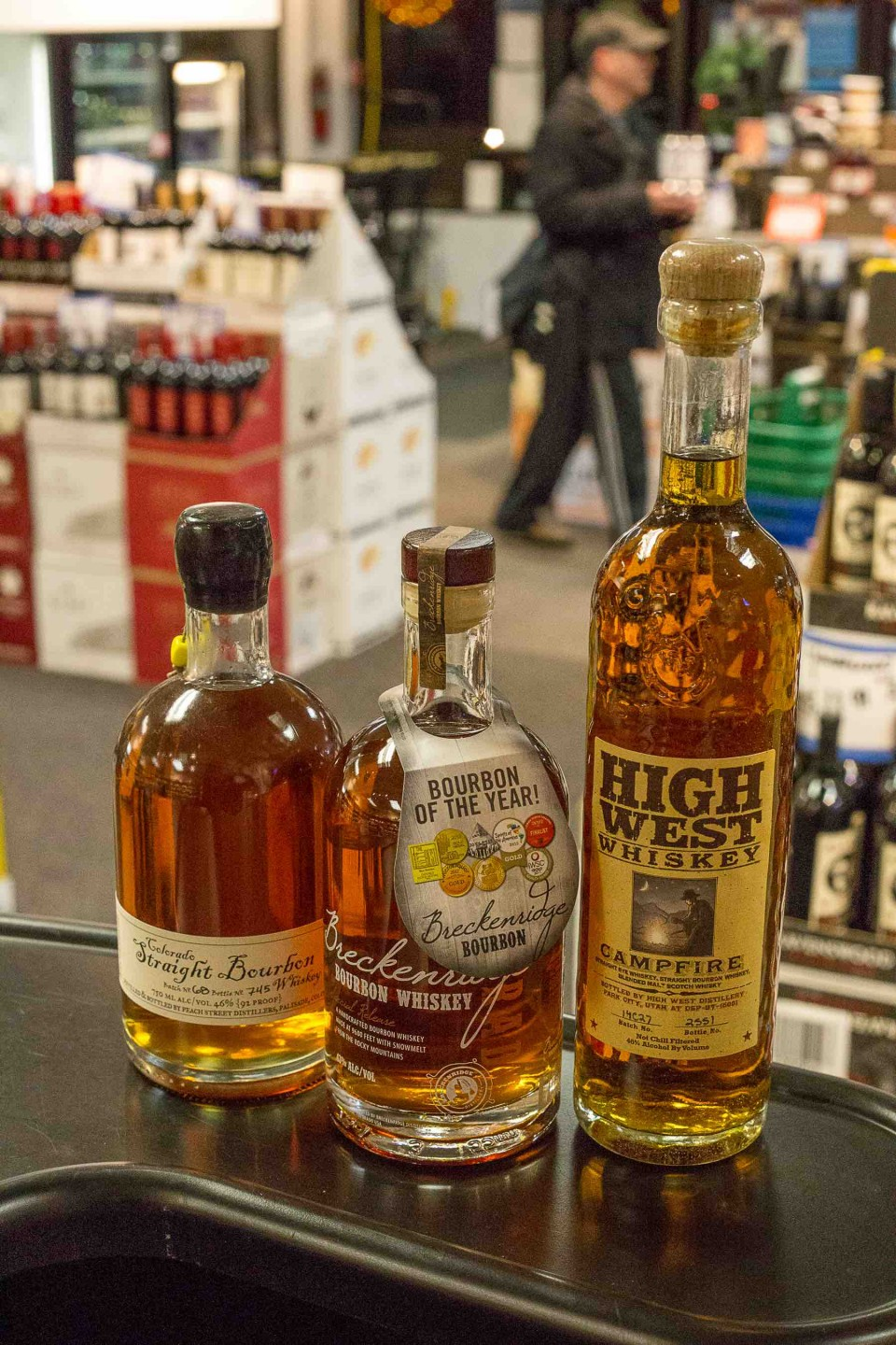 West Vail Liquor Mart sells a lot of whisk(e)y, especially Fireball cinnamon-flavored whisky and labels from producers in Colorado and other Western states.