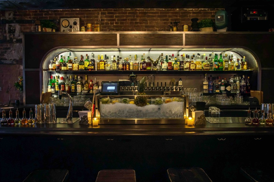 Boilermaker in New York City celebrates its namesake drink with beer and shots.