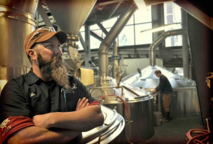 Alaskan Brewing Co. (brewhouse pictured) produced 160,000 barrels of beer in 2014. The company's brews are available in 17 states, with Alaska as the top market.