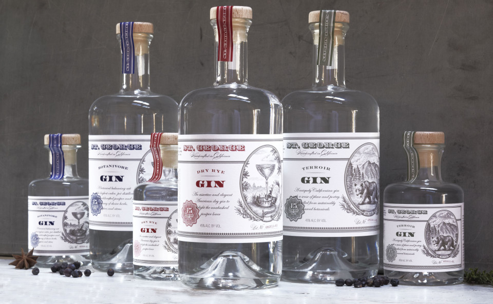 St. George's lineup features a broad array of products, led by its range of three gins.