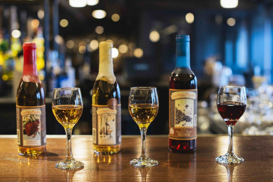 Mead Comes in a wide variety of styles and sweetness levels, which is demonstrated in the mead tasting flight at Park Restaurant & Bar in Cambridge, Massachusetts.