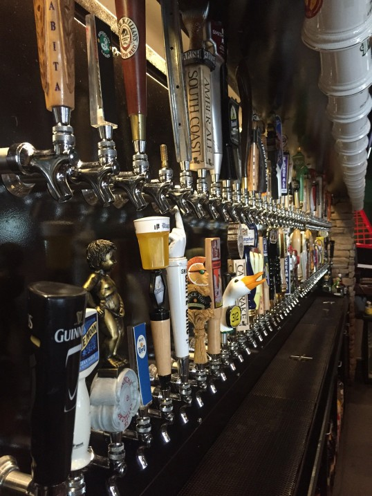 Louisiana's three-unit Happy's Irish Pub (taps pictured) has shifted from stocking only bottled beer to offering solely draft options.