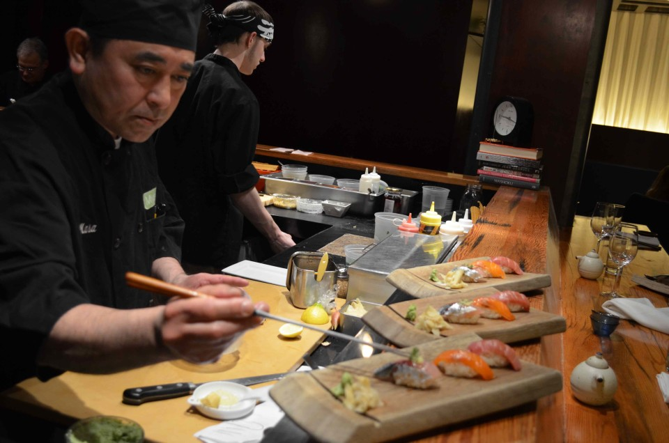 The Japanese restaurant Miyake offers a variety of sakes and a sophisticated wine selection.