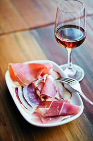 Mockingbird Hill offers a selection of Spanish and American hams paired with Sherry. In Spain, Sherry is always enjoyed with food.