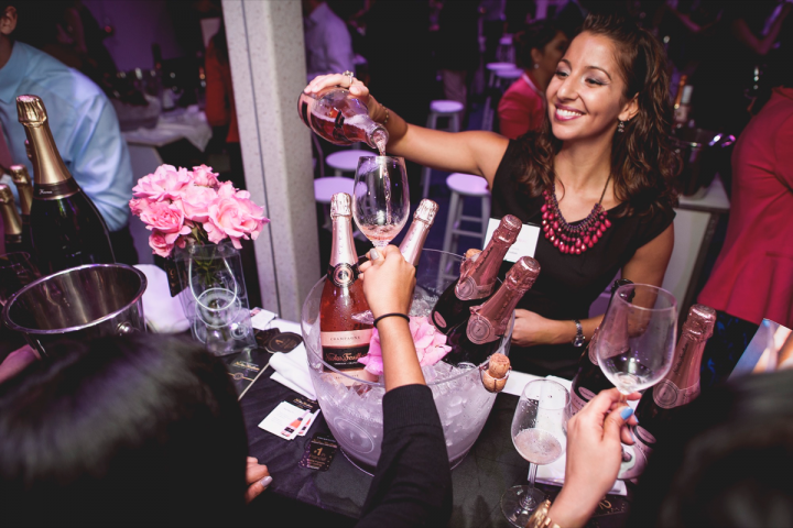Held on a yacht in the Hudson River, the La Nuit en Rosé festival embraces the affluent, summery lifestyle associated with dry rosé. More than 80 rosés from 10 countries were poured at the 2014 event.