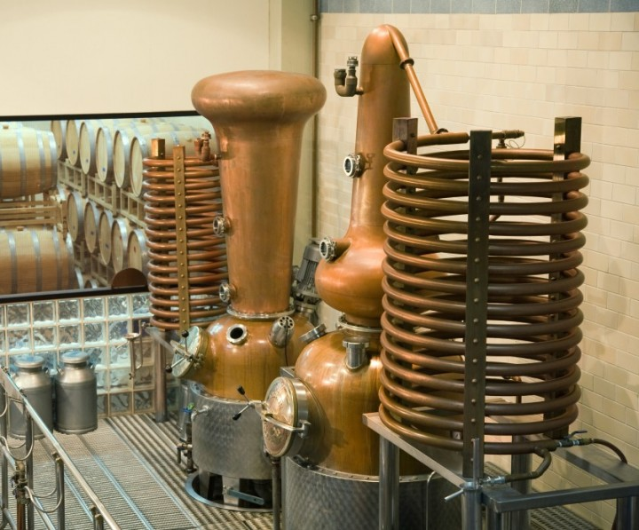 Anchor makes its products on a 250-liter pot still but will soon add a second wash still to increase capacity.