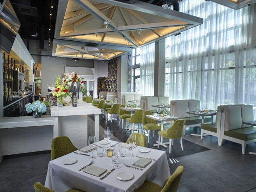 Las Vegas' Andiron evokes the Hamptons with its fresh fare and plantation shutters.