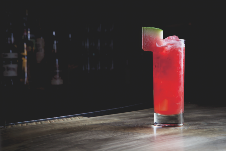 Made with Campari, gin and watermelon, the Waterloo cocktail at Employees Only highlights simplicity and freshness.