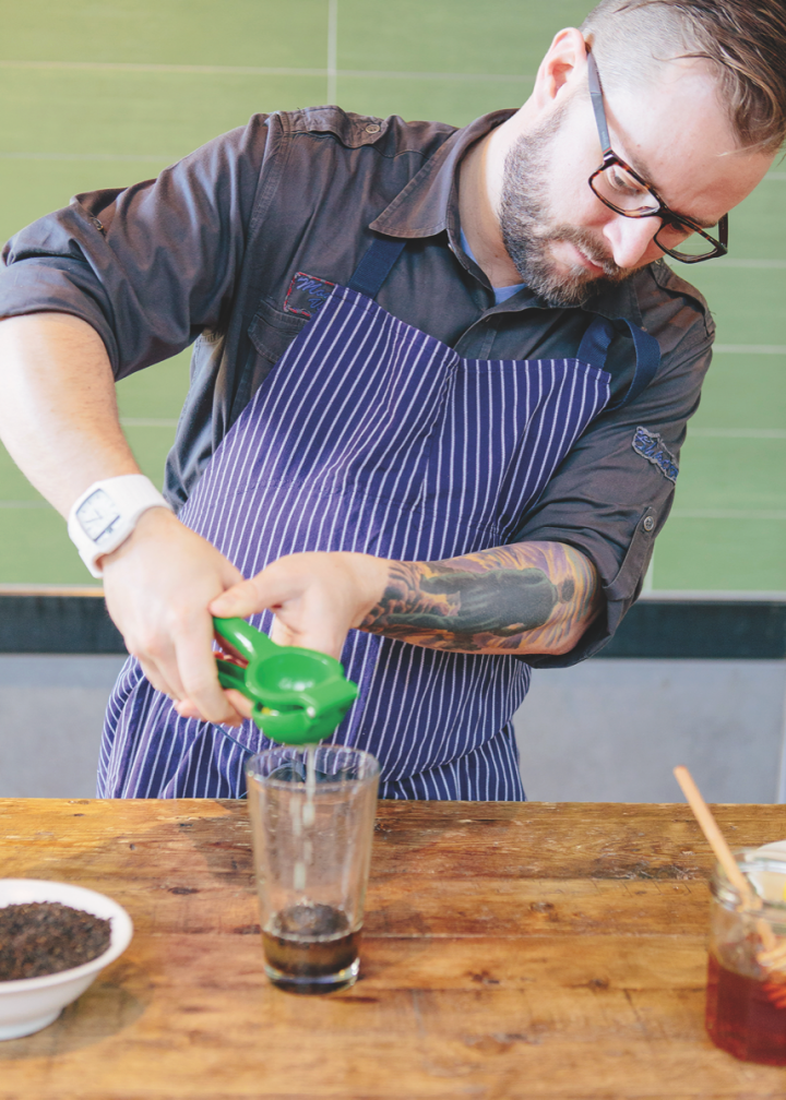 At Fox Restaurant Concepts, beverage director Mat Snapp has scaled back the number of offbeat ingredients and created systems to increase the speed of making high-quality cocktails.