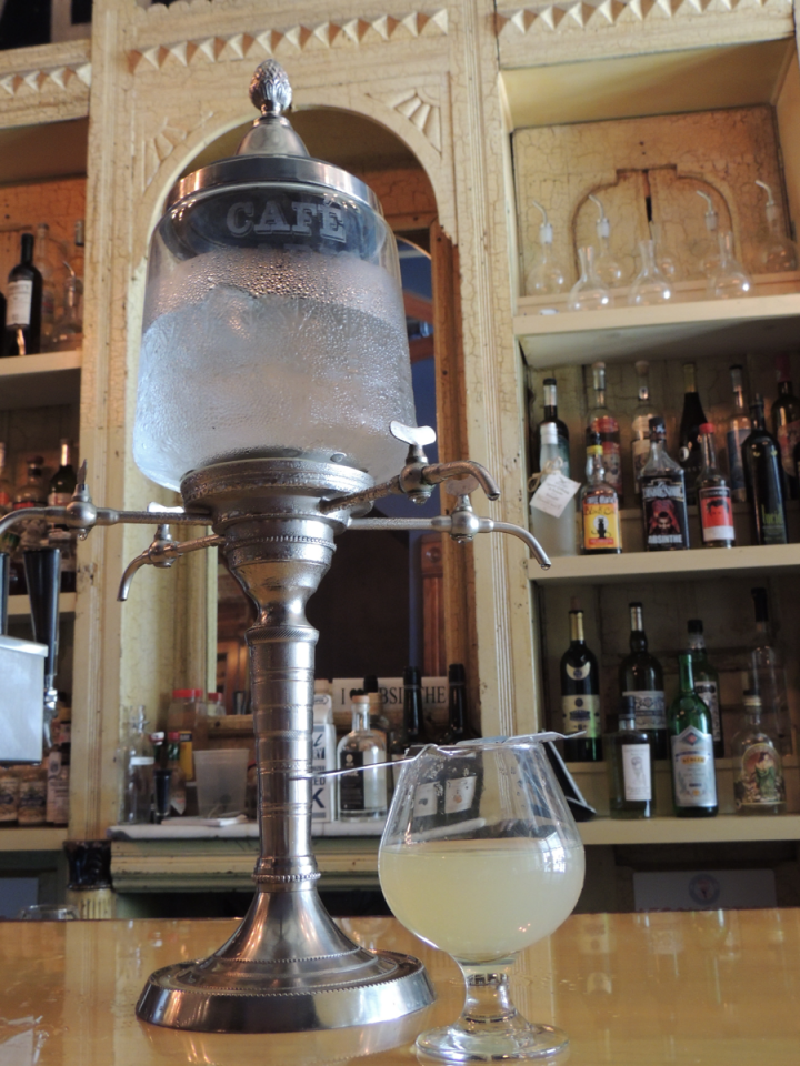 Washington, D.C.'s Libertine serves over 30 absinthes and offers the traditional ritual (fountain pictured).