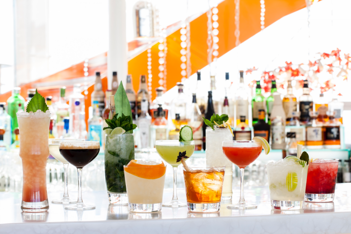 Sushi Samba maintains an innovative cocktail program across all its concepts. Offerings range from fruit juice–driven classics and  signatures to the Sambatini, which features a new recipe every month. Lesser-known spirits like shochu or cachaça often play a role.