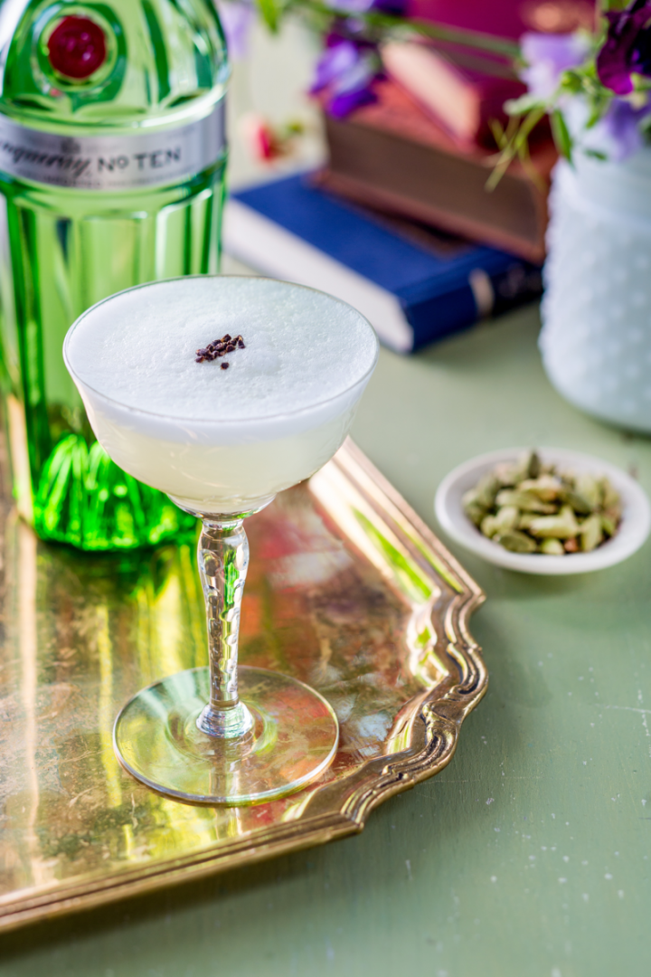 In the last few years, the gin category has premiumized and expanded into an increasingly wide variety of styles suited for many types of cocktails, such as the East of Eden, made with Tanqueray No. 10 gin.