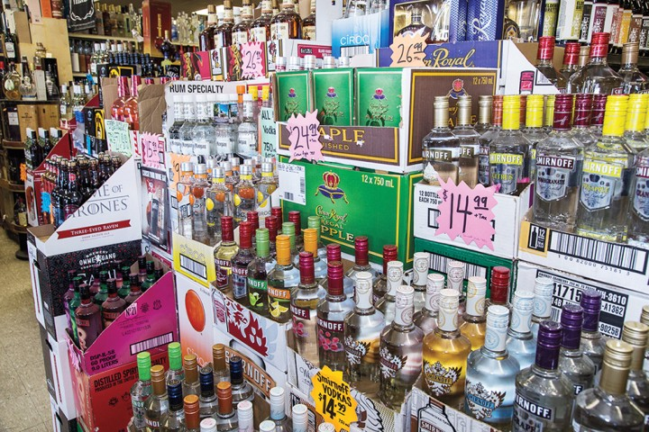 Tops offers 1,200 wine SKUs and 1,700 spirits SKUs, led by vodka and whiskies. Local and exclusive items draw particular interest.