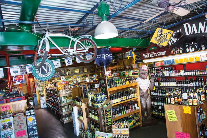 Like its sister store Tops Liquors, sales at Sun Devil Liquors are driven by its beer selection.