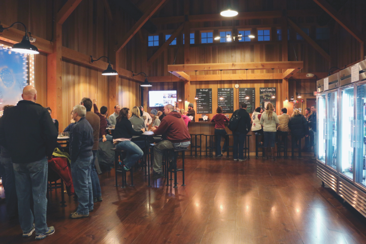 Consumer awareness of cider has continued to increase thanks to a proliferation of tasting rooms. Middlebury, Vermont's Woodchuck Cider House features a tasting room (pictured), gift shop and self-guided tours of the brand's new cidery, which produces two dozen different varieties.