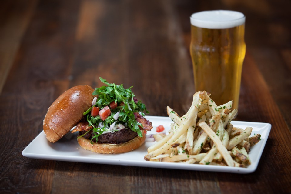 Eureka's menu lists 10 specialty burgers (the Napa Burger at the Huntington Beach location pictured above), which pair well with the company's craft-only draft beers.