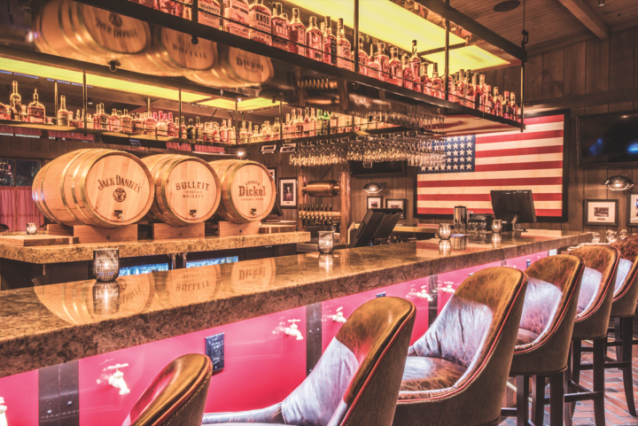 Cameron Mitchell's The Barn at Rocky Fork Creek emphasizes American whiskies and Bourbon cocktails.