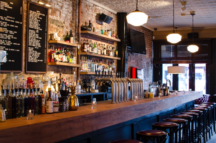 Joe's Bar in New York City plays classic rock and offers a timeless menu.