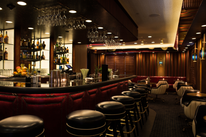 MiniBar in Hollywood, California, serves 1970s-era drinks and globally sourced beers.