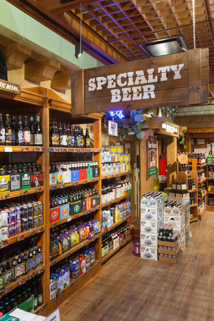 Beer comprises 15 percent of sales at Stew Leonard's Wines, although the category can't be sold in New York stores. Other locations average 600 beer SKUs, led by craft and local offerings.