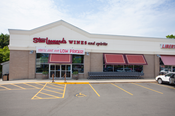 The beverage alcohol stores (Norwalk, Connecticut, location pictured) are operated separately from the Stew Leonard's grocery chain.
