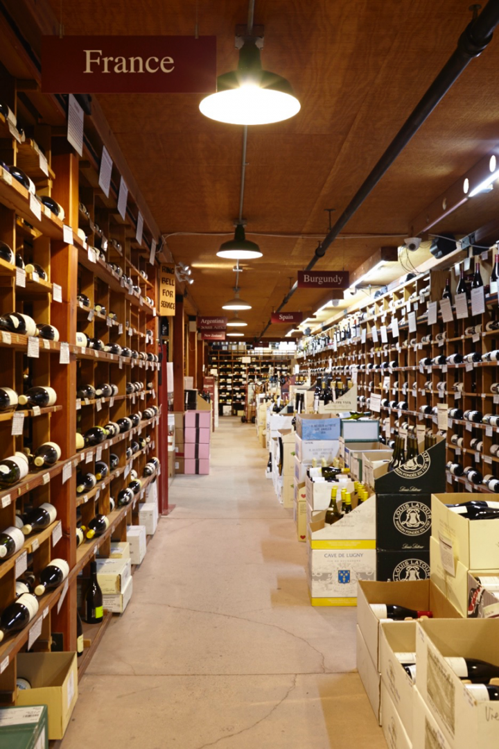 Wine represents 60 percent of sales at Hi-Time. The store offers over 5,000 wine SKUs, organized by region.