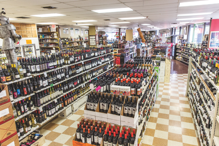 Buster's stocks 10,000 SKUs, half of them wine. The category generates over 50 percent of sales and is the main driver for online orders.