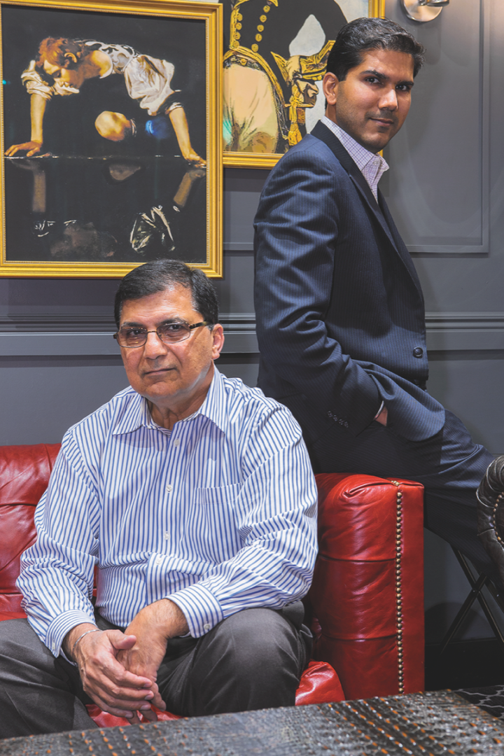 Arun Abrol (left) founded Wine Chateau in 1994 and now serves as the company's COO. Saurabh Abrol (right) focuses on growing the business.