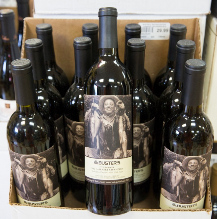 Buster's Liquors offers a range of private label wines, produced in partnership with Basel Cellars in Washington.