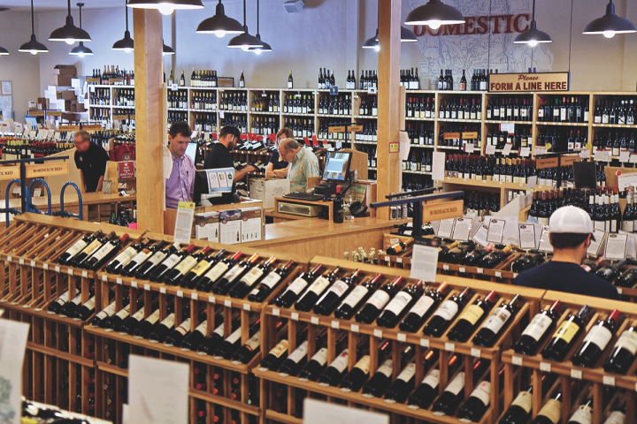 Retail outlets like K&L Wine Merchants carry unique and niche wines to differentiate their offerings online and in stores.