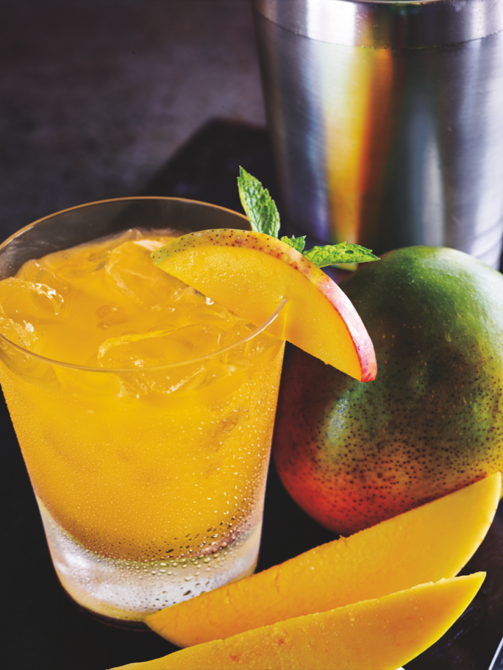 New Amsterdam's Mango Sunrise takes a minimal approach, pairing the brand's Mango vodka with orange juice and lemon-lime soda.