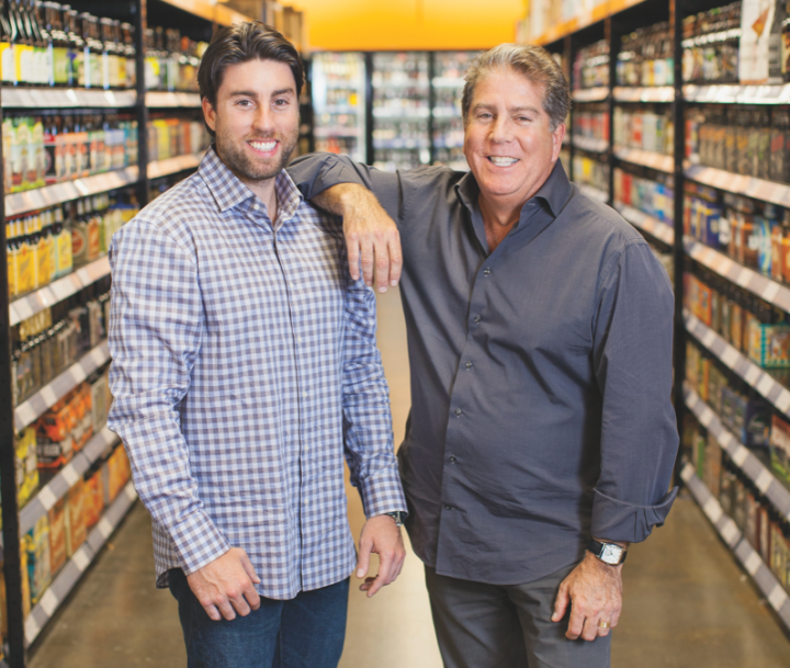 Alan Daniels (right) and his son, Jason Daniels (left), run the beer retailer Half Time, which has two units in New York's Hudson Valley.