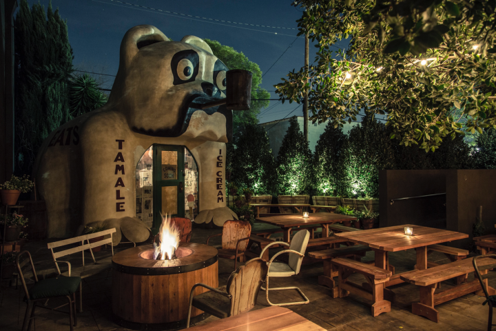 The group's venues all feature a distinct aesthetic, often in historic spaces. Idle Hour boasts an outdoor patio housing the former Bulldog Cafe building, which the 1933 Group acquired from a museum that was undergoing a remodel.