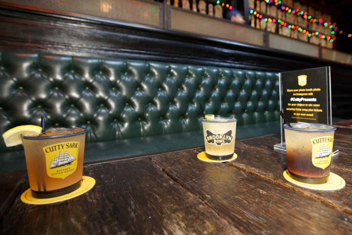 Edrington Americas' Cutty Sark brand has been reinvented for a younger, hipper audience. The company has promoted its Cutty Sark Prohibition Edition with events in places like Brooklyn (cocktails at Brooklyn Bowl pictured).