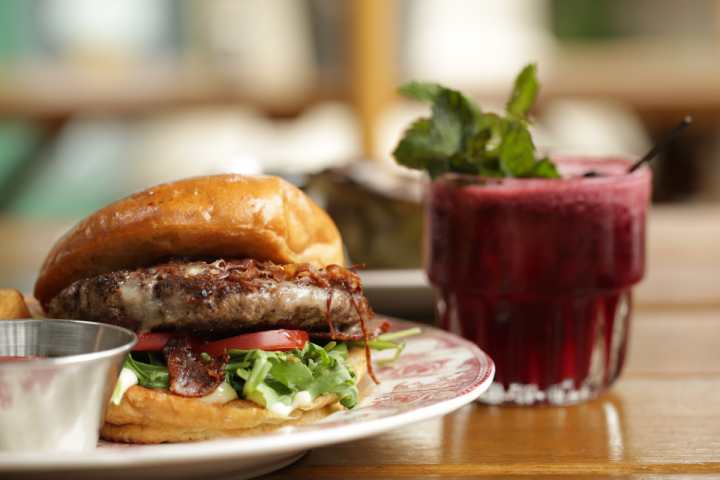 Food is offered at only two of the company's venues, including Idle Hour (the Idle Burger pictured).