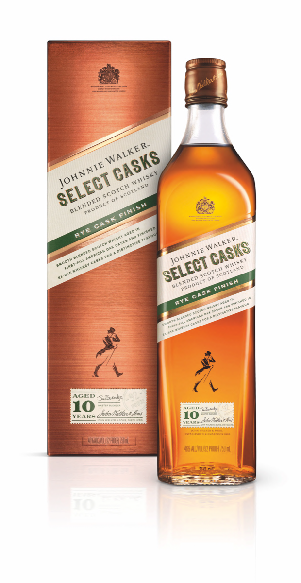 Diageo recently launched Johnnie Walker Rye Cask Finish, the first offering in its Select Casks series.