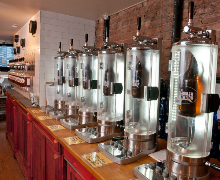 For retailers looking to add growler sales, The Growler Station Express presents a customizable solution in a variety of sizes.