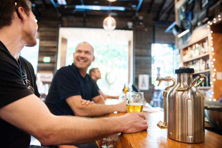 Consumers seeking different ways to take home draft beer are looking beyond the traditional glass growler to options like the uKeg, which functions as a miniature keg.