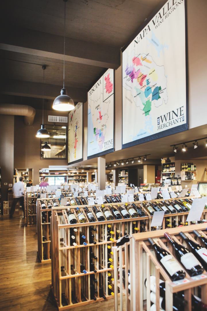 The Wine Merchant offers a wide array of 2,300 wine SKUs at all price points. This year, 2012 vintages of California and Washington wines are thriving.