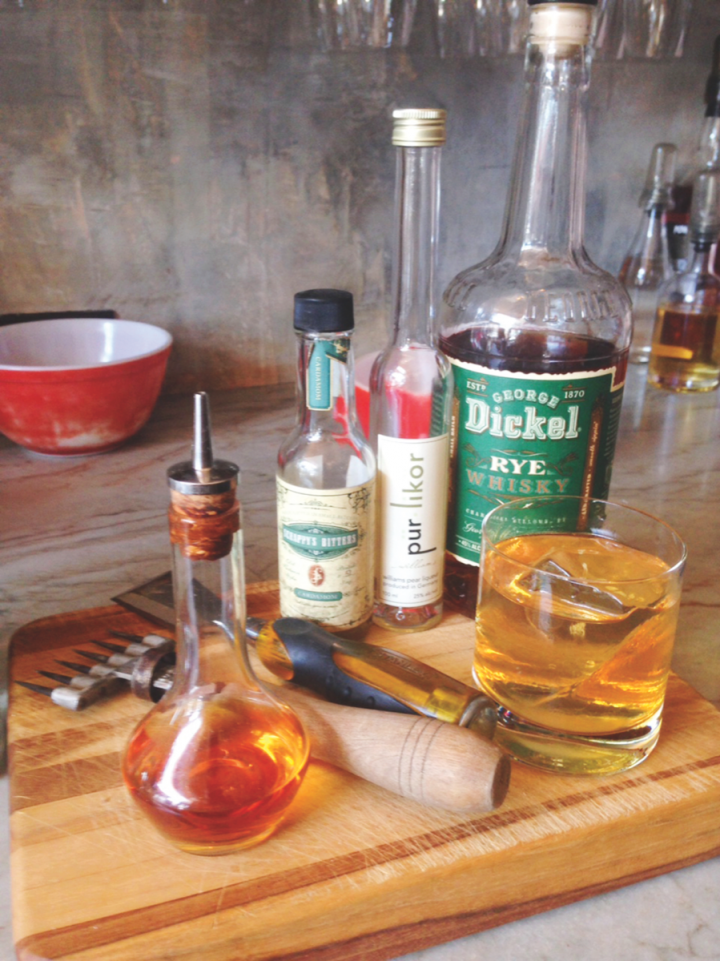 The Mama's Old Fashioned puts a twist on a standby, mixing rye, Sherry, pear liqueur and bitters.