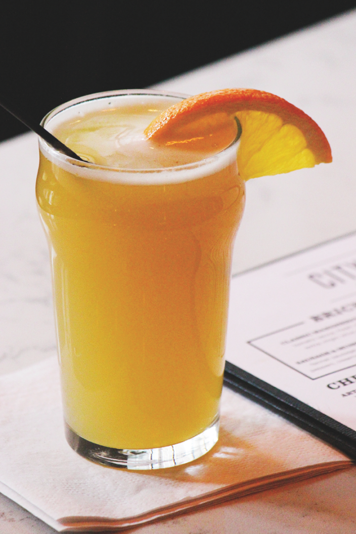 At City Tap House, the Beermosa—which mixes a wheat beer with elderflower liqueur, orange juice and sparkling wine—outsells the traditional Mimosa during brunch.
