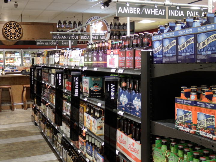 At Buehler's Fresh Foods in Milltown, Ohio, beer is organized by style rather than by brand. The move has won fans among hardcore craft beer drinkers.