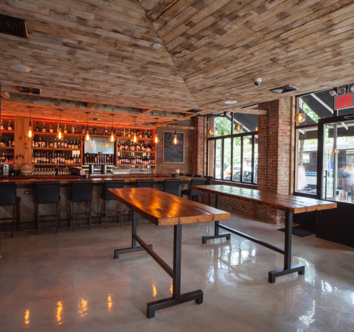 Manhattan Brew & Vine offers over 40 wines by the glass, as well as nearly 30 craft beers.