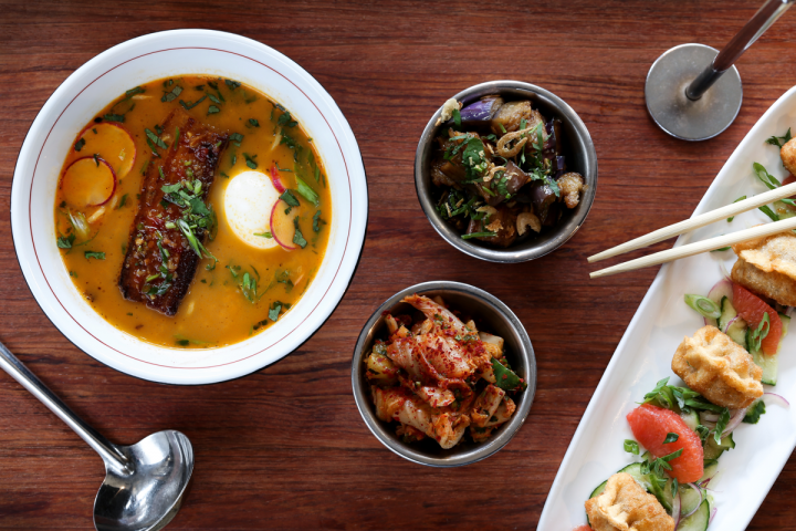 Chef Bill Kim's Urbanbelly concept highlights Korean-influenced fare like ramen.