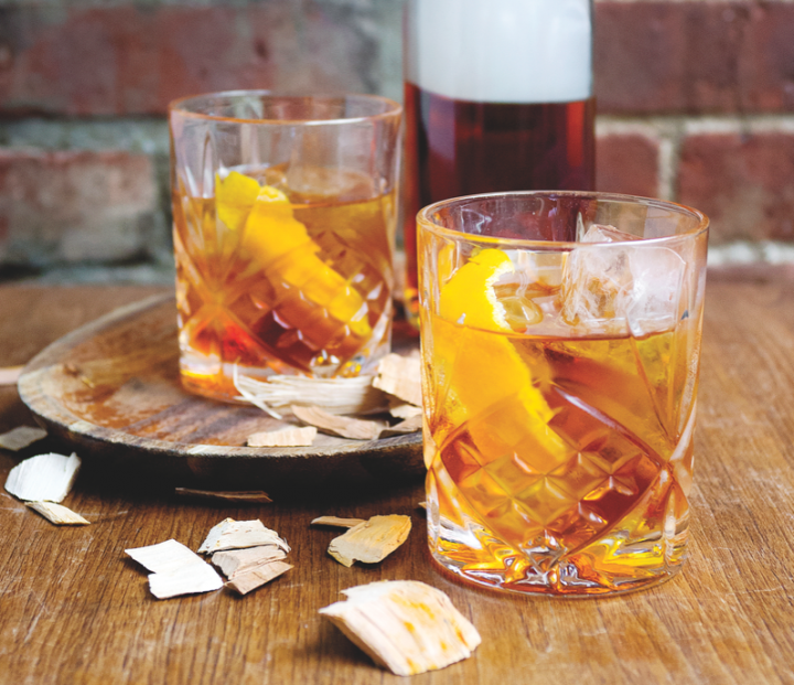 Using Scotch in place of the traditional Bourbon, rye or Cognac can put an unexpected twist on an old standby. The Highlands Scotch Old Fashioned comprises Speyside single malt, cane sugar, bitters and cherry wood smoke.